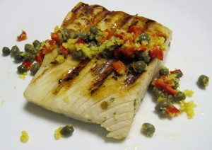 Grilled fish on a plate - Paleo Diet friendly
