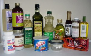 Various bottles of oil - some are Paleo Diet friendly